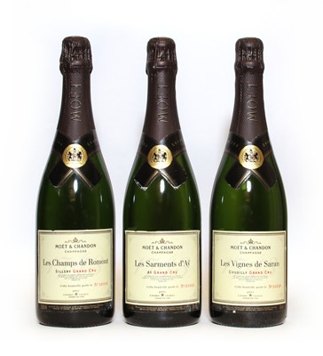 Lot 17 - Moet & Chandon, Epernay, La Trilogie des Grand Crus, three bottles in total (OWC)