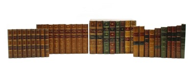 Lot 110 - Nine composition faux book spine sections