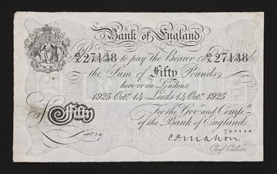 Lot 59 - Banknotes, Great Britain, George V (1910-1936)