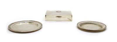 Lot 20 - A 925 standard silver cigarette box