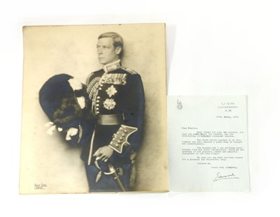 Lot 104 - EDWARD VIII: Typed Letter to Charles (Bedaux)