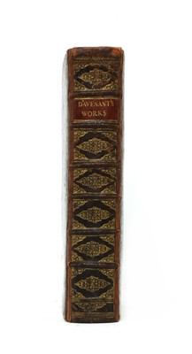 Lot 109 - Davenant, Sir William: The Works of Sir William Davenant Kt
