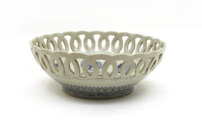 Lot 97 - A Chinese porcelain pierced bowl