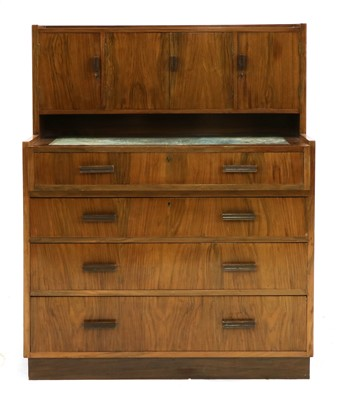 Lot 223 - An Art Deco walnut desk