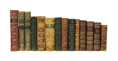 Lot 27 - BINDING: 14 mostly 19 century full leather bound books