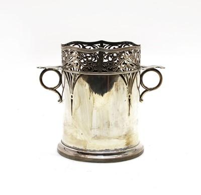 Lot 5 - A silver bottle holder