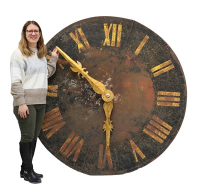 Lot 416 - GIANT TOWER CLOCK FACE