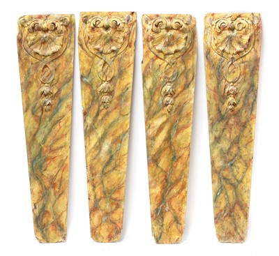Lot 348 - IMITATION PAINTED MARBLE PILASTERS