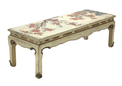 Lot 18 - A lacquered and painted Chinese-style low table