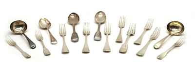Lot 23 - A collection of variously hallmarked silver flatware