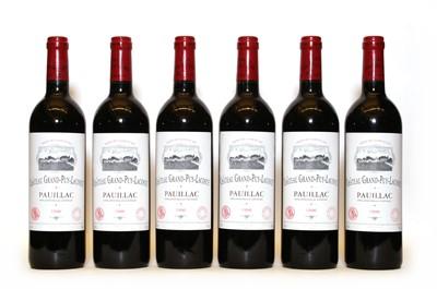Lot 85 - Chateau Grand Puy Lacoste, 5eme Cru Classe, Pauillac, 1996, six bottles