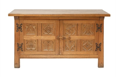 Lot 63 - An Arts and Crafts oak sideboard