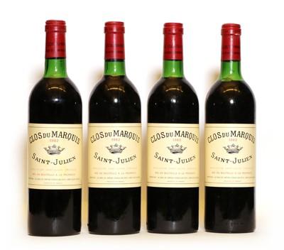Lot 86 - Clos de Marquis, St Julien, 1982, four bottles
