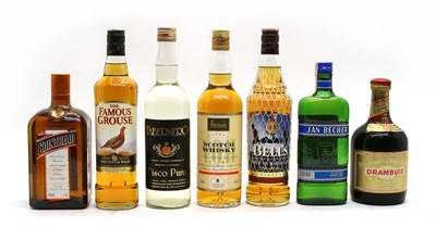 Lot 87 - Assorted Whisky, Drambuie and liqueurs, fifteen bottles in total