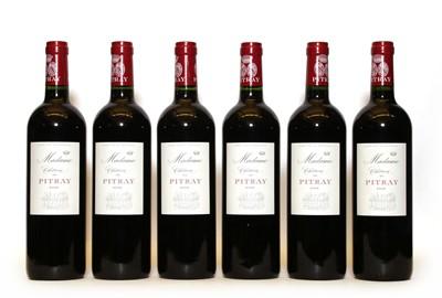 Lot 88 - Chateau de Pitray, Madame, Cotes de Castillon, 2009, six bottles