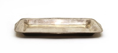 Lot 27 - A George V silver tray, by George Wish