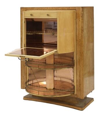 Lot 192 - An Art Deco maple cocktail cabinet