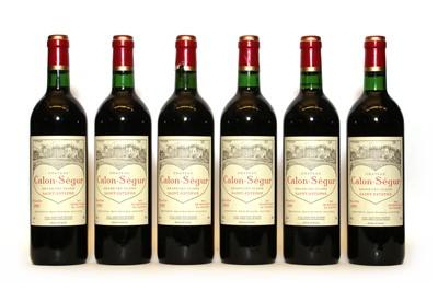 Lot 92 - Chateau Calon Segur, 3eme Cru Classe, St Estephe, 1995, six bottles
