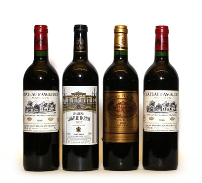 Lot 94 - Assorted Red Bordeaux: Chateau Leoville Barton, St Julien, 2002, one bottle and three various others