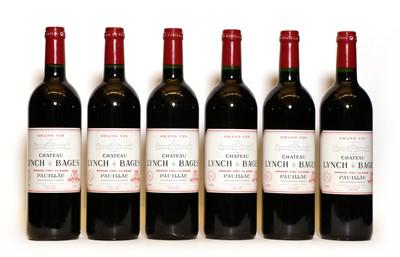 Lot 95 - Chateau Lynch Bages, 5eme Cru Classe, Pauillac, 1995, six bottles (in opened OWC)