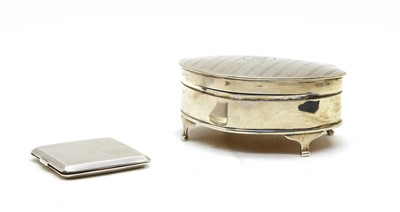 Lot 59 - A George V silver trinket box