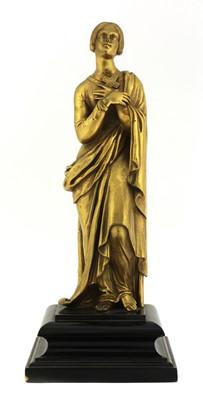 Lot 185 - A gilt-metal figure of a girl