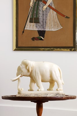 Lot 79A - An Indian carved alabaster figure of an elephant