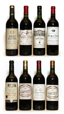 Lot 96 - Assorted red Bordeaux, to include Chateau Leoville Barton, 1987, one bottle, and seven others