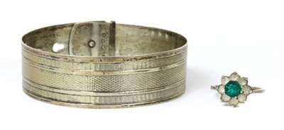 Lot 32 - A sterling silver bangle, by Charles Horner
