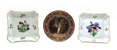 Lot 109 - A Vienna painted cabinet plate