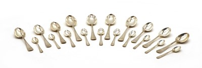 Lot 22 - A part set of twenty Old English silver spoons