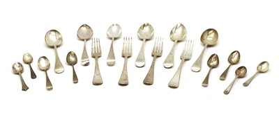 Lot 15 - A quantity of silver cutlery