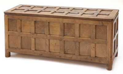 Lot 68 - An oak blanket chest