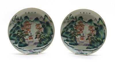 Lot 111 - A pair of Chinese famille rose dishes