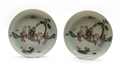 Lot 86 - A pair of Chinese famille rose dishes