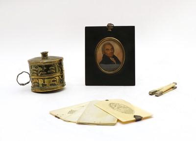 Lot 78 - An oval miniature of Thomas Robinson of Stepney
