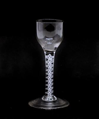 Lot 95 - An 18th century air twist wine glass