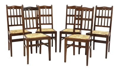 Lot 6 - A set of six walnut dining chairs