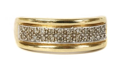 Lot 51 - A 9ct gold two row diamond ring