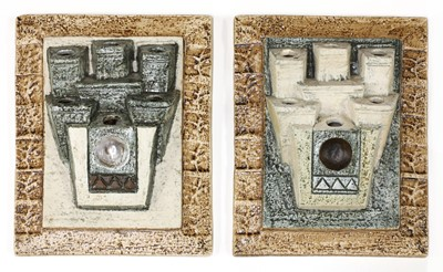Lot 373 - A pair of Troika Pottery wall pockets