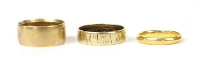 Lot 97 - Three gold wedding rings
