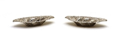 Lot 44 - A pair of silver oval dishes