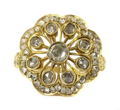 Lot 21 - A gold rose cut diamond cluster