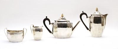 Lot 57 - A George V silver four-piece tea set