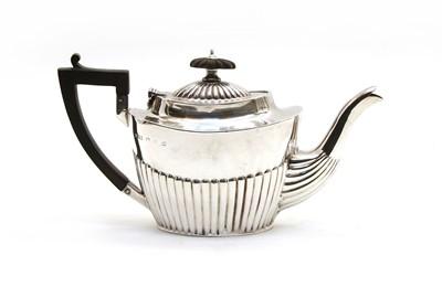 Lot 55 - A small Victorian silver teapot