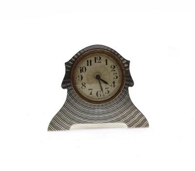 Lot 53 - A George V silver Art Deco timepiece