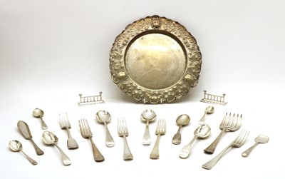 Lot 54 - A collection of Georgian and later silver flatware