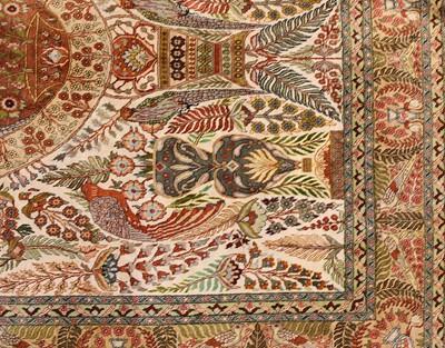 Lot 91 - A silk Qum rug