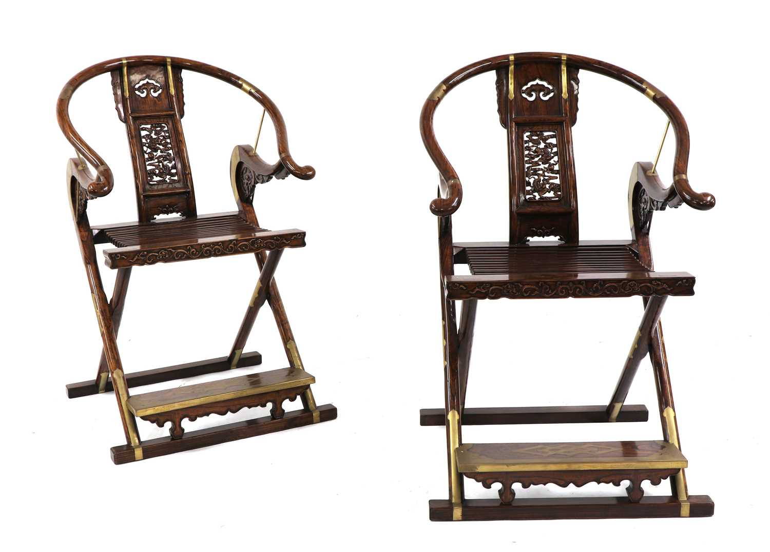 Lot 71 - A pair of Chinese elm chairs