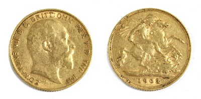 Lot 16 - Coins, Great Britain, Edward VII (1901-1910)
